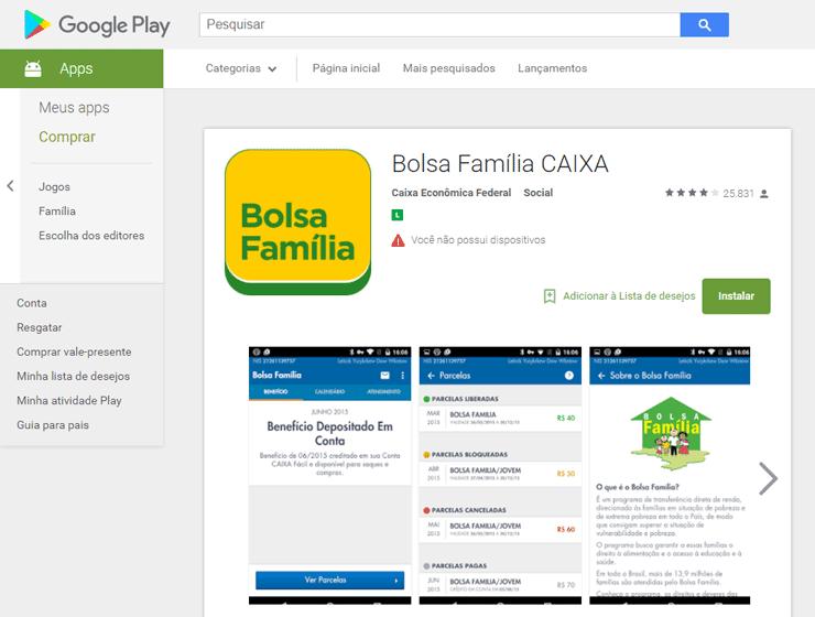 Consulta Bolsa Família pelo Aplicativo